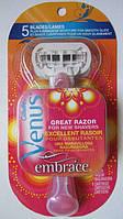 Станок  Gillette Venus Embrace из США, фото 1