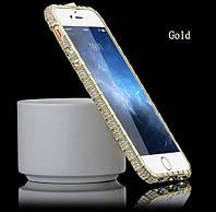 Бампер металлический со стразами Snake для iPhone 6 6S Plus, фото 1