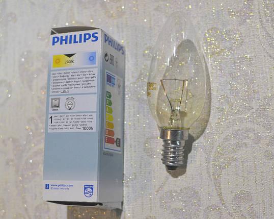 PHILIPS лампа накаливания, Е 14, 40W, фото 2