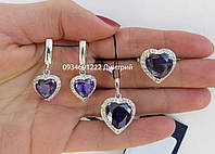 Набор Сердце серебро 925