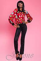 Женская стильная блуза красный, S