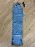 Джинсы женские прямые клеш от бедра прямые от бедра ровные спортивные летние тонкие на завязках Lexus jeans