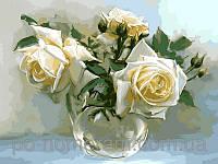 Картина-раскраска Турбо Чайные розы худ Бузин Игорь  30 х 40 см