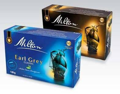 Чай Milton Earl Grey strong в пакетиках 80 штук (Польша) Милтон, фото 2