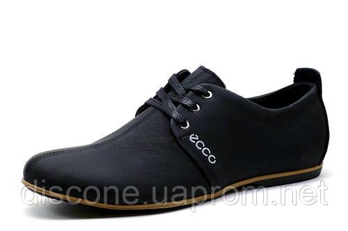 Спортивные туфли ЕССО Street Motion, мужские, натуральная кожа, черные
