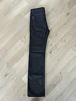 Джинсы женские черные прямые классические высокая посадка завышенная талия Lacarino jeans 33 размер