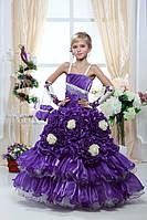 Детское нарядное платье Роза фиолетовая - прокат, Киев, Троещина