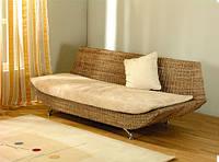 """Элитный диван """"Аврора"""". Плетеная мебель из абаки. Цвет под заказ"""