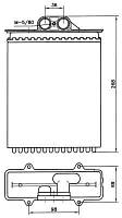 Радиатор печки Opel Vectra B 95-02 AC + кондиционер 1618110