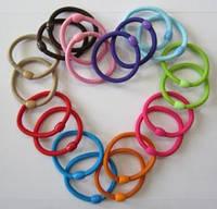 Резинка для волос большая тонкая цветная, диаметр 5 см, упаковка 20 шт. (10 цветов по 2 шт каждого).