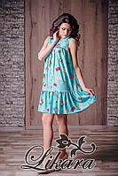 Платье из плотного стрейч-шифона