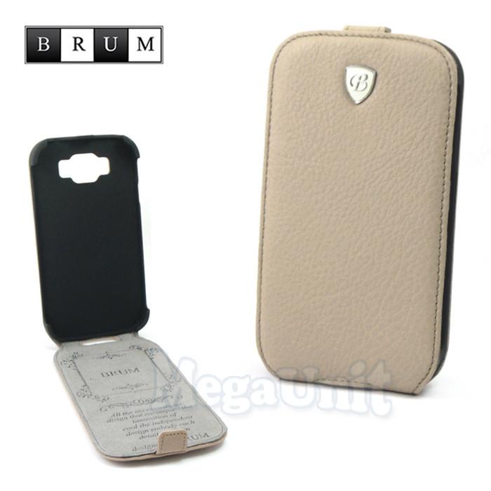 Brum Premium Кожаный чехол для Samsung Galaxy Grand i9082/i9080 (No.47 apricot)