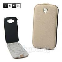 Brum Premium Кожаный чехол для Samsung Galaxy Grand i9082/i9080 (No.47 apricot), фото 1