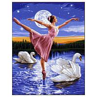 Картина по номерам Турбо Лебединое озеро  30 х 40 см
