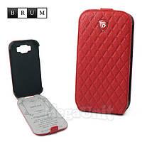 Brum Premium Кожаный чехол для Samsung Galaxy Grand i9082/i9080 (No.77 red)
