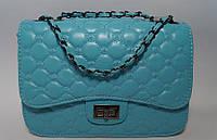 Голубая женская сумочка