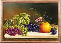 """Схема для вышивки бисером """"Натюрморт. Яблоко с виноградом"""""""