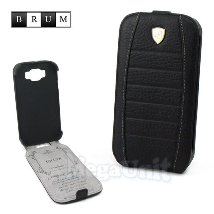 Brum Premium Кожаный чехол для Samsung Galaxy Grand i9082/i9080 (No.32 black)