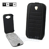 Brum Premium Кожаный чехол для Samsung Galaxy Grand i9082/i9080 (No.32 black), фото 1