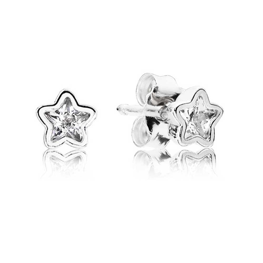 Серьги-пусеты «Сияние звезд» из серебра 925 пробы