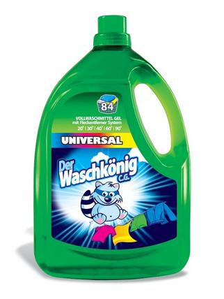 Гель для стирки Der Waschkonig Universal 3305мл для всех типов ткани, фото 2