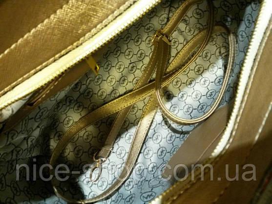 Сумка Michael Kors Selma золотая, фото 2