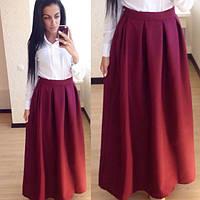 Женская юбка со складками.