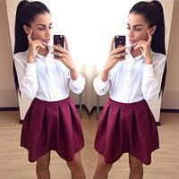 Женская юбка  однотонная короткая