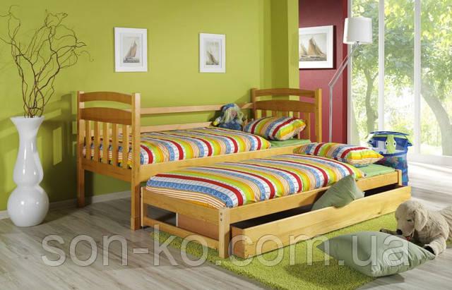 Висувне ліжко з масиву буку Домінік
