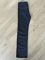 Джинсы женские классические прямые высокая талия темно синие большие размеры Lacarino