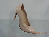 Туфли женские лаковые натуральные на шпильке