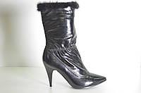 п Ботинки женские зимние натуральная кожа на каблуке