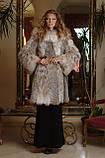 Шуба з канадської рисі hooded lynx fur coat, фото 2