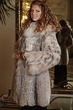 Шуба из рыси канадской hooded lynx fur coat, фото 3