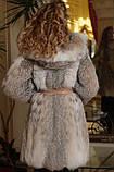 Шуба з канадської рисі hooded lynx fur coat, фото 4