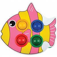 Стучалка рыбка с шариками