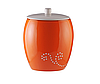 Ведро для мусора керамическое оранжевое