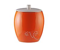 Ведро для мусора керамическое оранжевое, фото 1