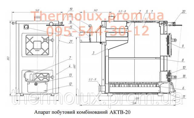 Схема котла Термобар АКТВ-20