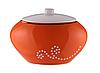 Баночка для ваты и ушных палочек оранжевая