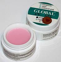 Global УФ Гель моделирующий нежно-розовый средней вязкости, 15 мл.
