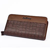 Барсетка Baellery 6053 Brown Crocodile