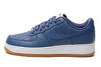 Мужские кроссовки Nike Air Force 1 синие белым