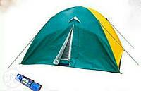 Палатка четырех 4 местная намет двухслойная с москитной сеткой туристическая 200х200х150см