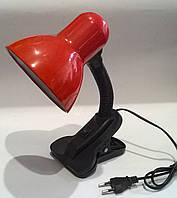 Светильник настольный прищепка красный