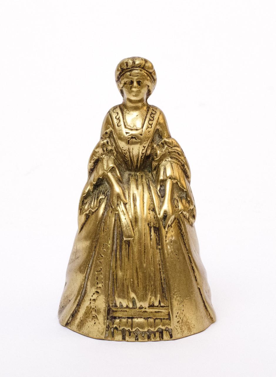 Бронзовый коллекционный колокольчик, бронза, Англия, 10,5 см