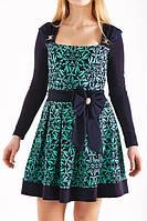 Платье нарядное с бантом на поясе