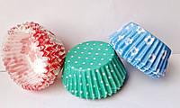 Формочки для кексов из пергаментной бумаги, 12 шт/уп.(малые, цветные ), фото 1