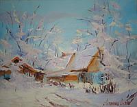 """Картина на холсте маслом """"Зима"""""""