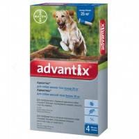 Bayer Адвантикс капли для профилактики и лечения заражения эктопаразитами собак более 25кг, 1 пипетка